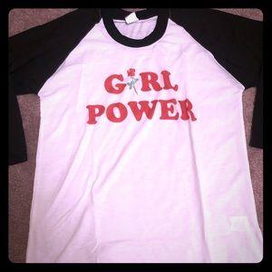 Tops - Girl power baseball shirt